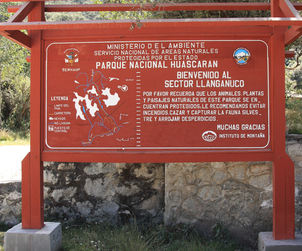 Huascaran National Park entrance