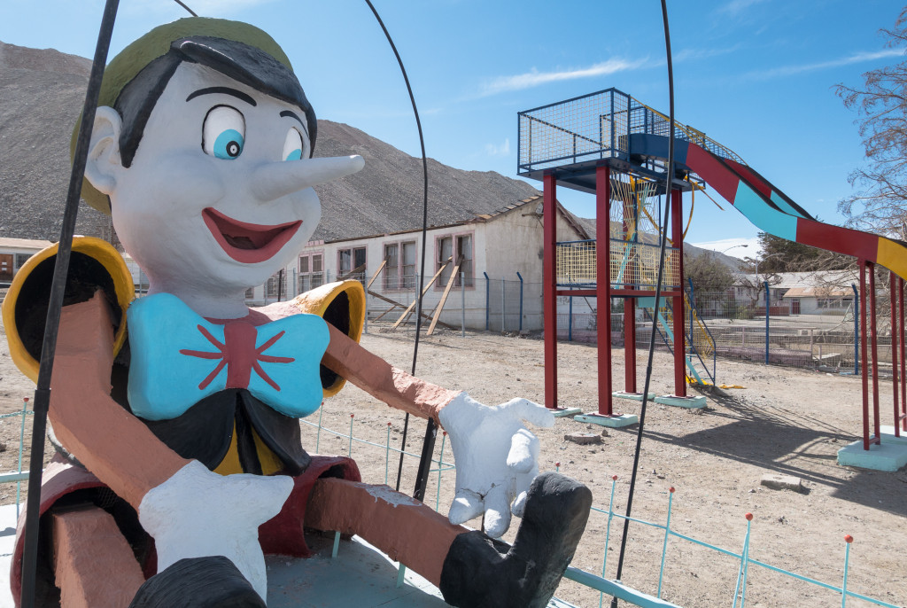 Abandoned playground in Chuquicamata ghost town