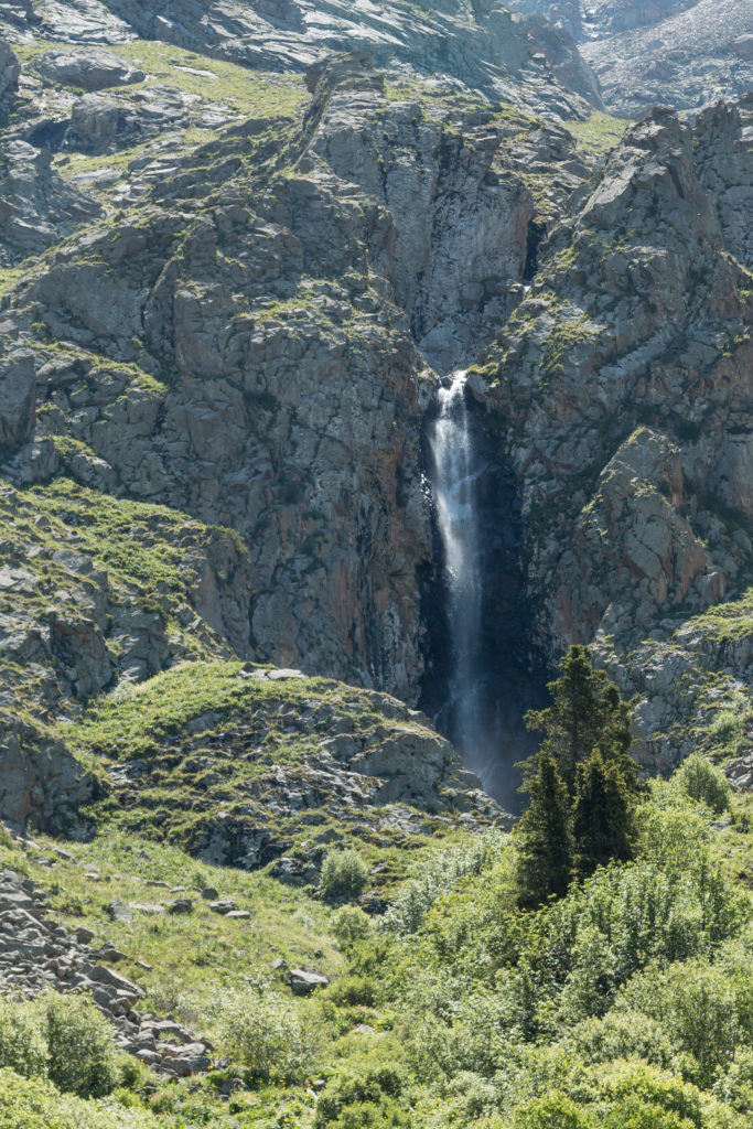 Waterfall in Ala Archa National Park