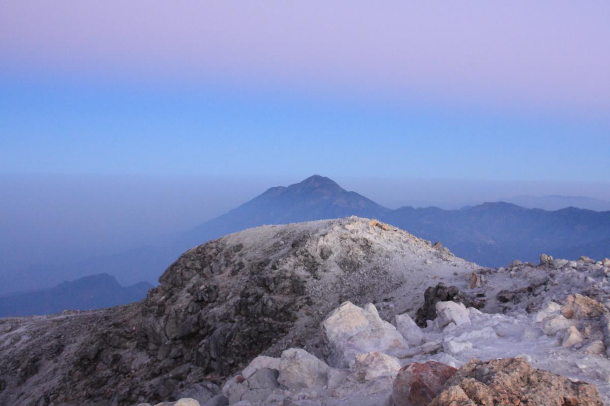 Tajumulco summit at dusk