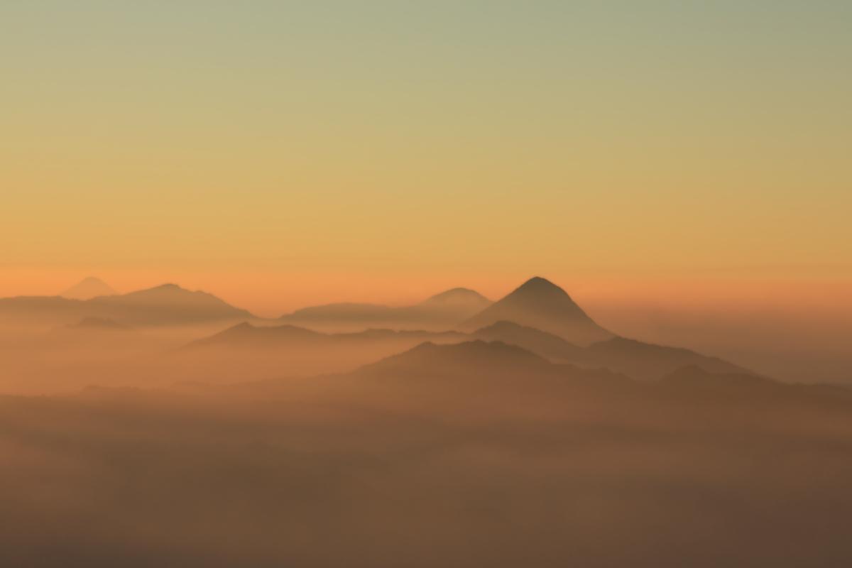 Sunrise viewed from the summit of Tajumulco, Guatemala