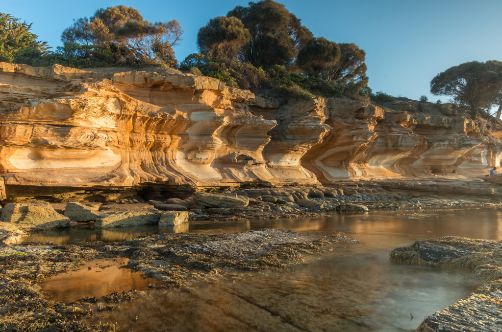 Sunset at Painted Cliffs, Maria Island