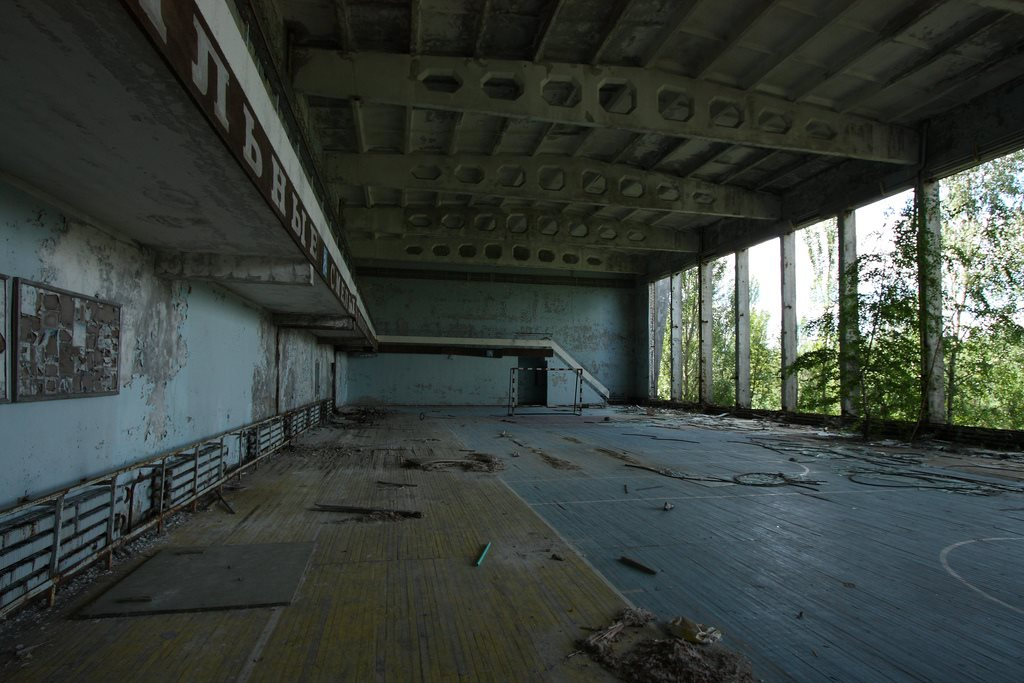 Abandoned gym, Pripyat