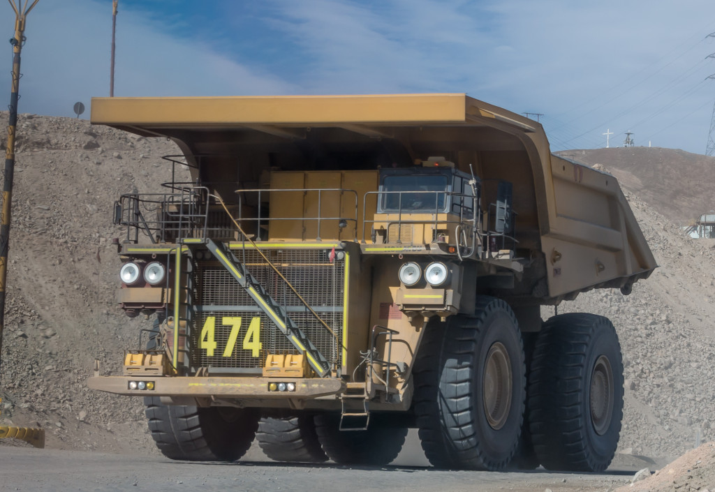 Mining vehicle at Chuquicamata, Calama, Chile