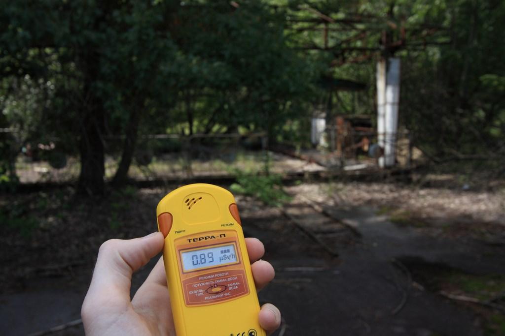 Bumper cars radiation reading, Pripyat