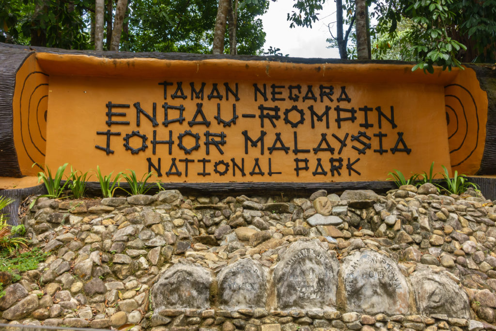 Endau Rompin National Park entrance