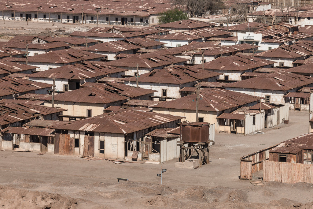 Residential area of Humberstone ghost town