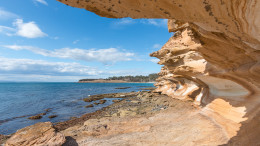 Painted cliffs, Maria Island National Park