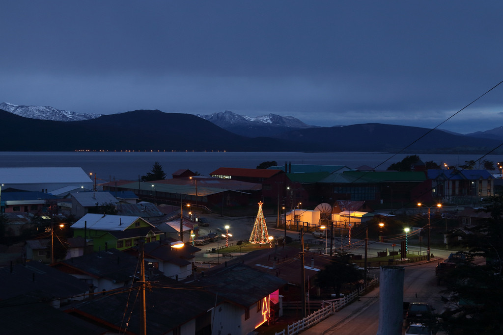 Puerto Williams at night