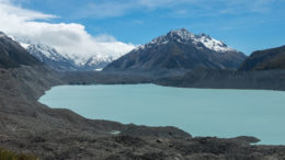 Tasman glacier and lake