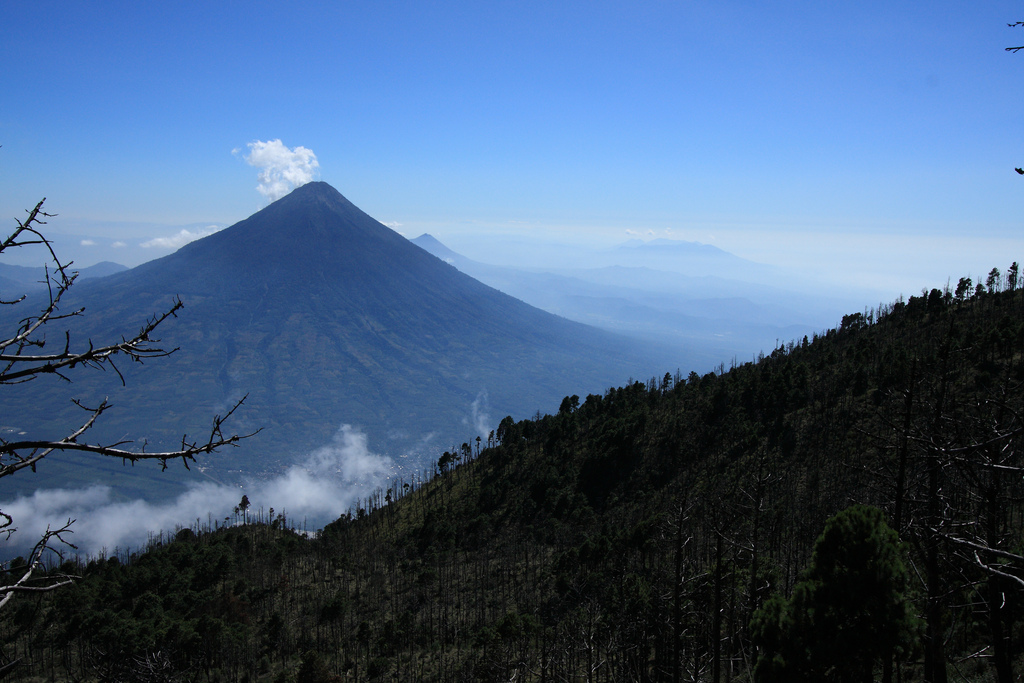Volcan Agua viewed from volcan Acatenango