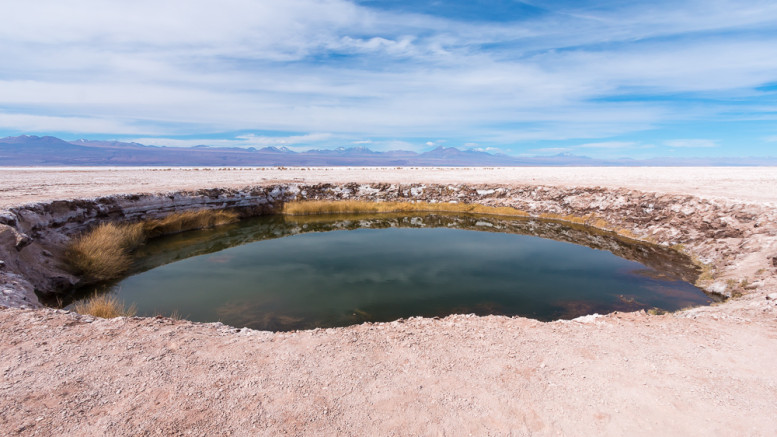 Ojos de Salar in the Atacama desert