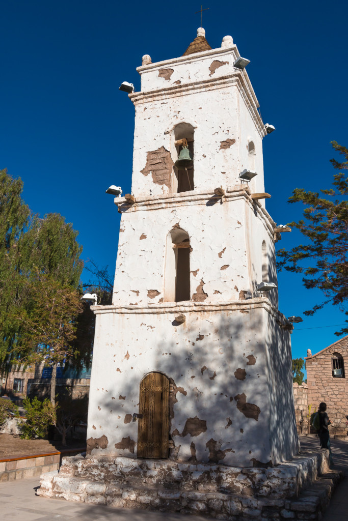 Toconao church tower on Lagunas Altiplanicas tour