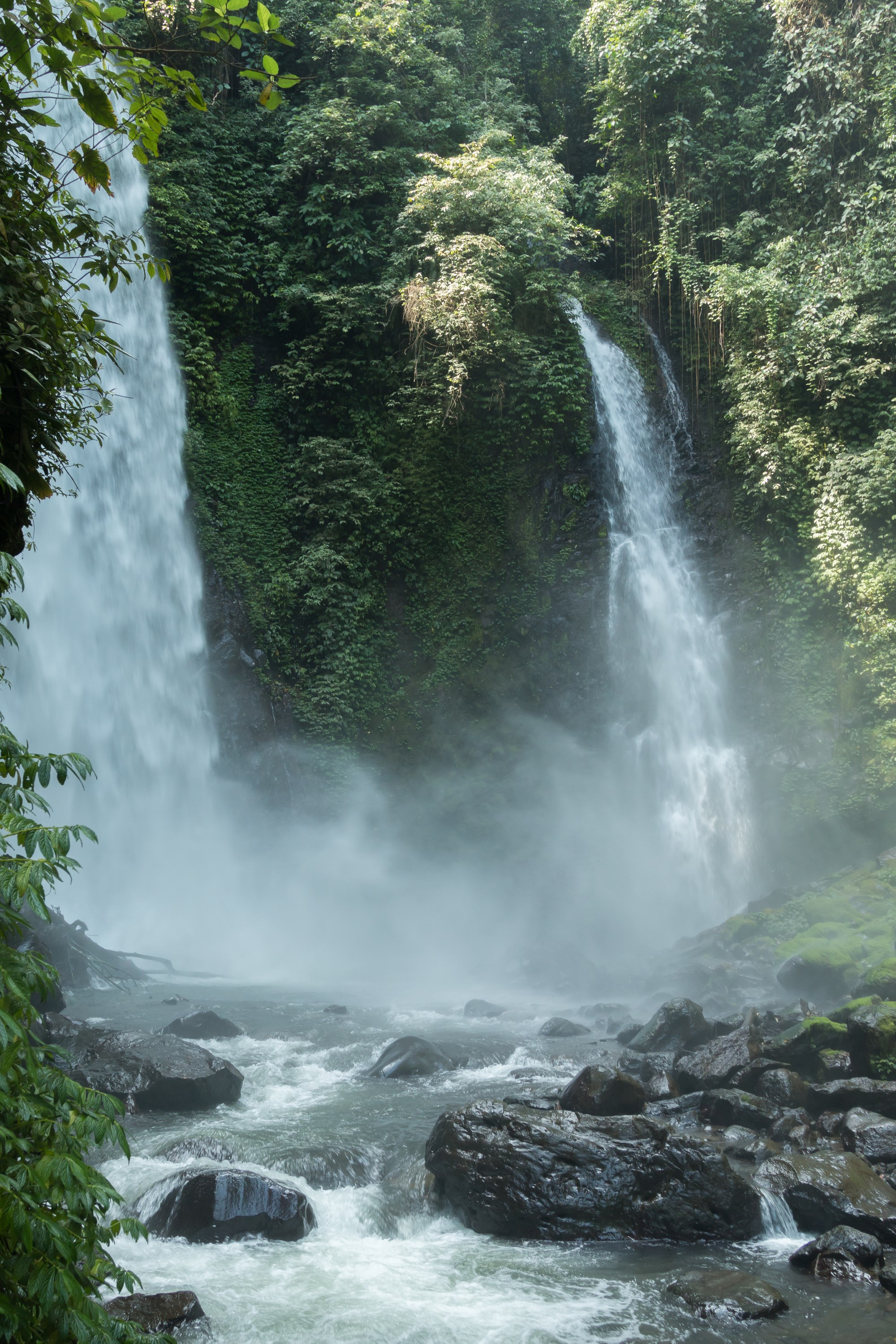 Kali waterfall hike, North Sulawesi