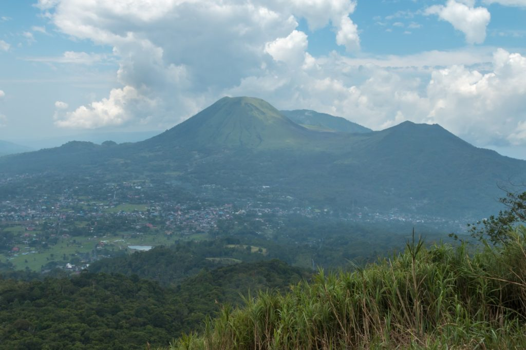 Lokon volcano view