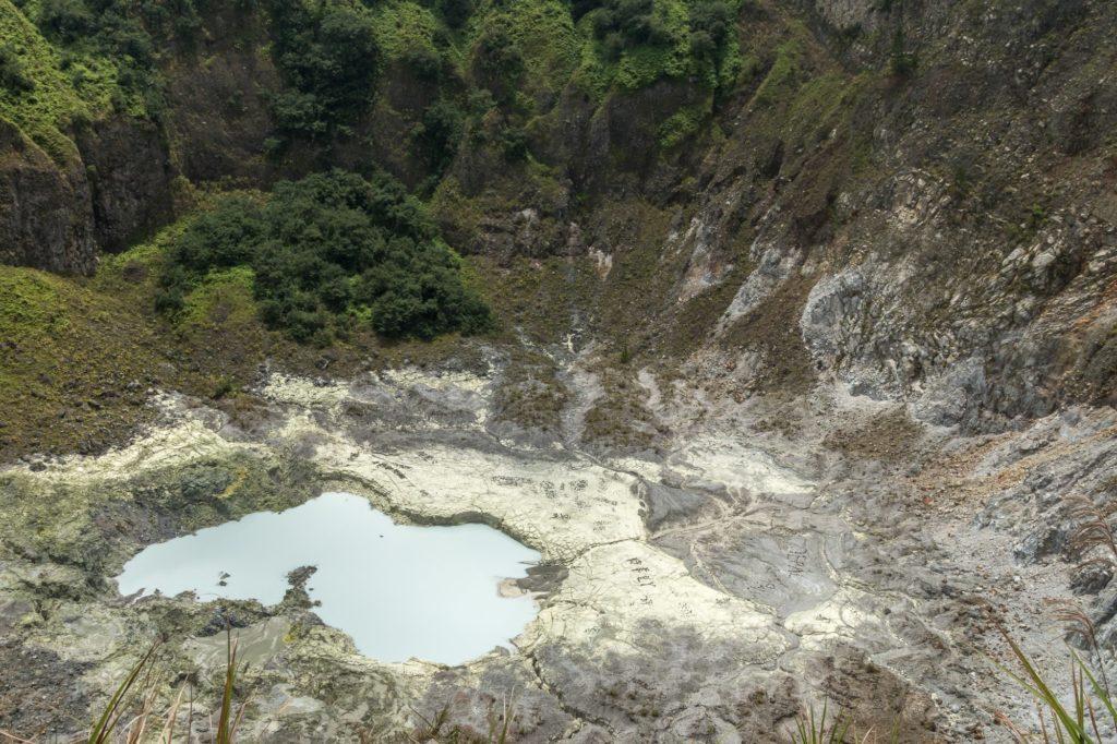 Mount Mahawu volcano crater
