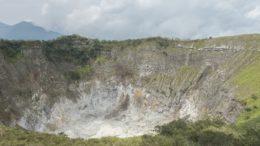 Mount Mahawu volcano