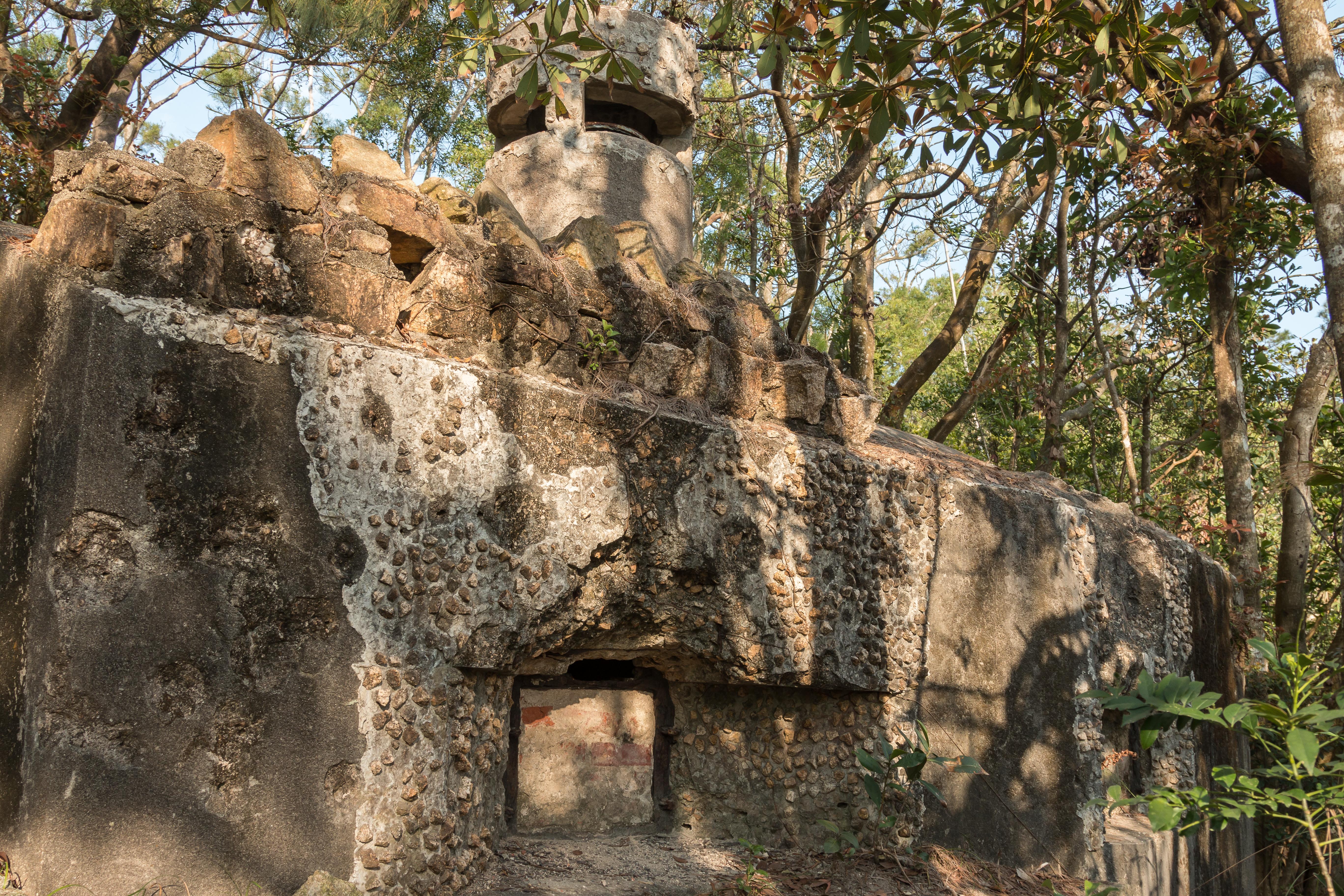 Wong Nei Chung Gap WW2 ruins, Hong Kong