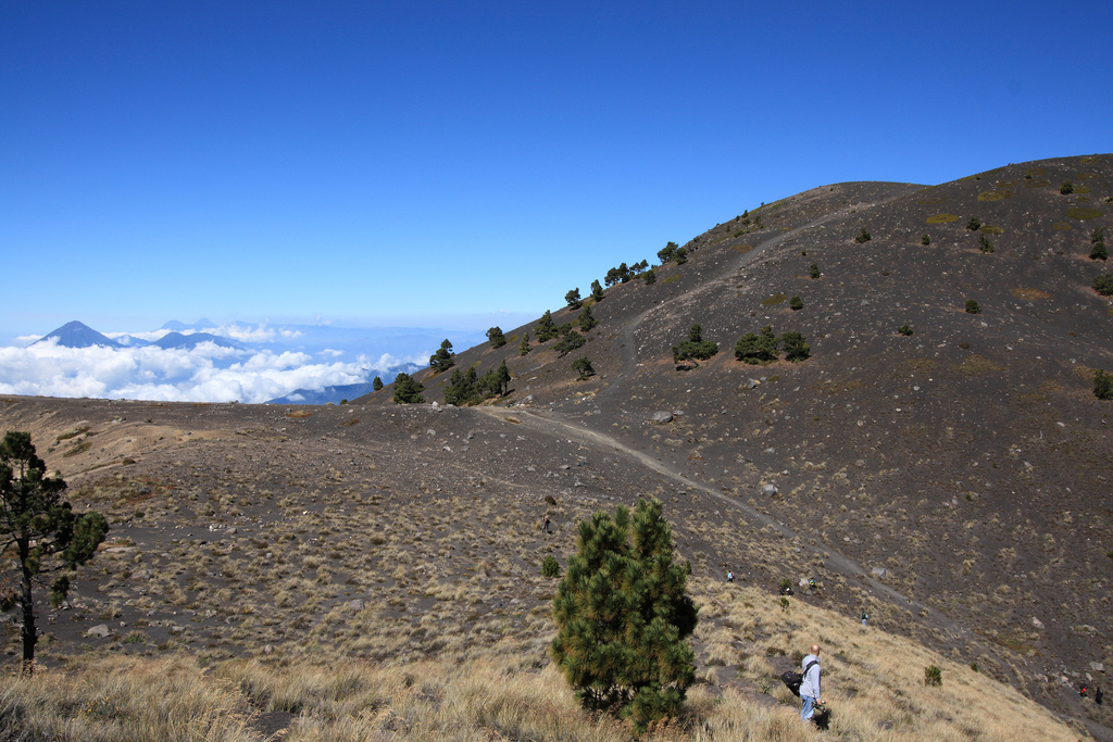Acatenango volcano, near the summit