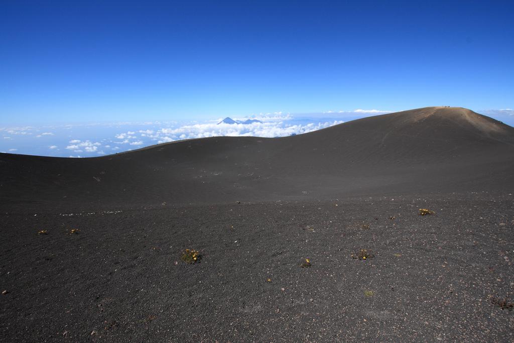 Acatenango volcano summit crater / plateau