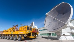 ALMA telescope and transporter