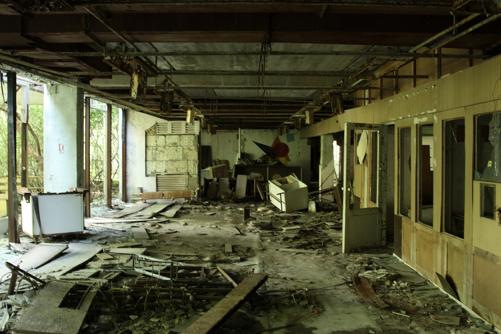 Inside former Pripyat school