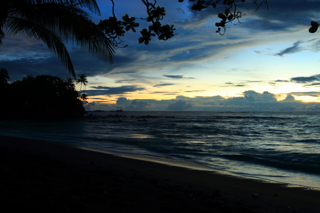 Sunset over Pacific Ocean, Corcovado