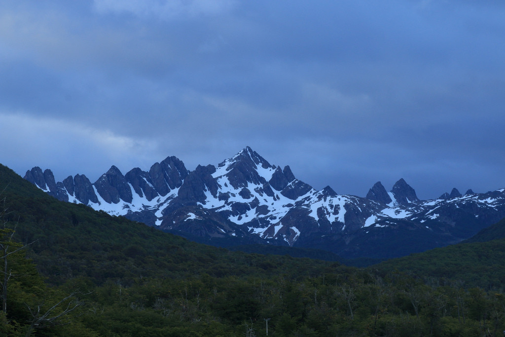Dientes de Navarino viewed from Puerto Williams