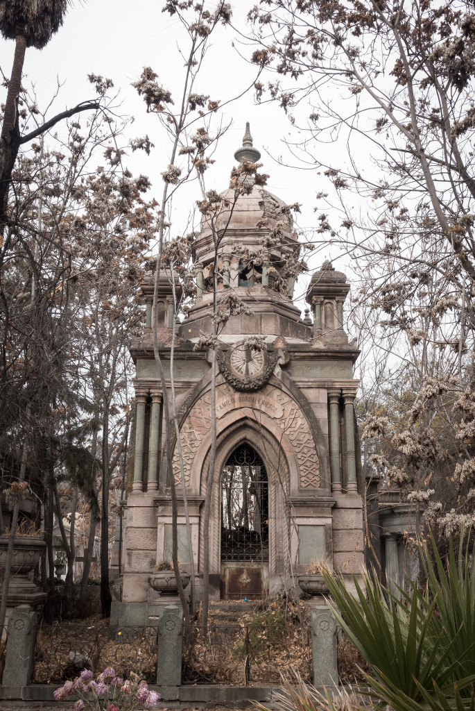 Elaborate tomb in cemetery