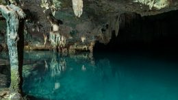 Gua Rangko cave and lake