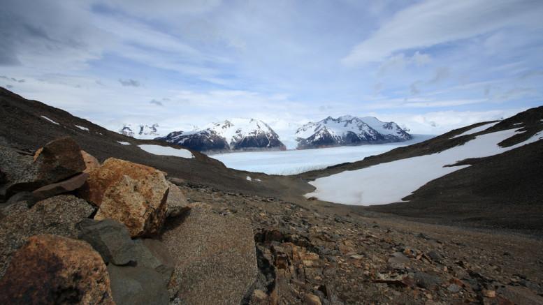 John Gardner Pass and Glacier Grey