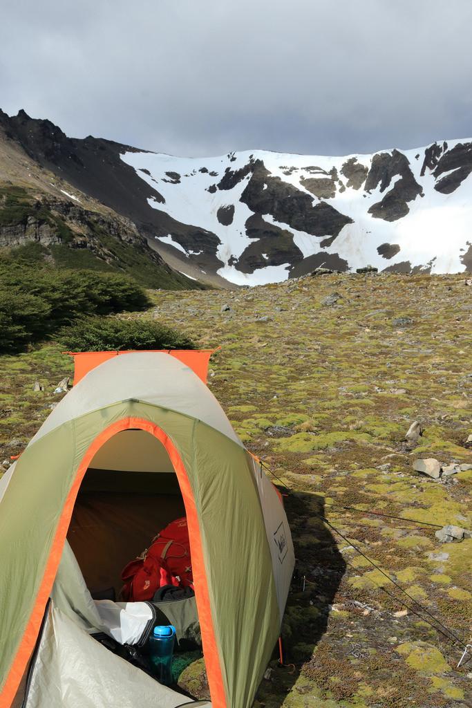 Campsite next to Laguna Guanacos