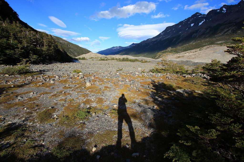 Dusk near Los Perros campsite, Torres del Paine