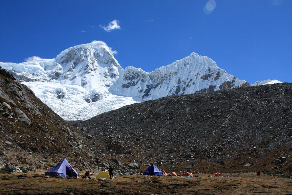 Tents at Pisco base camp