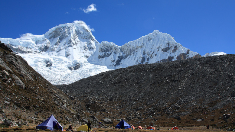 Tents at Pisco base camp