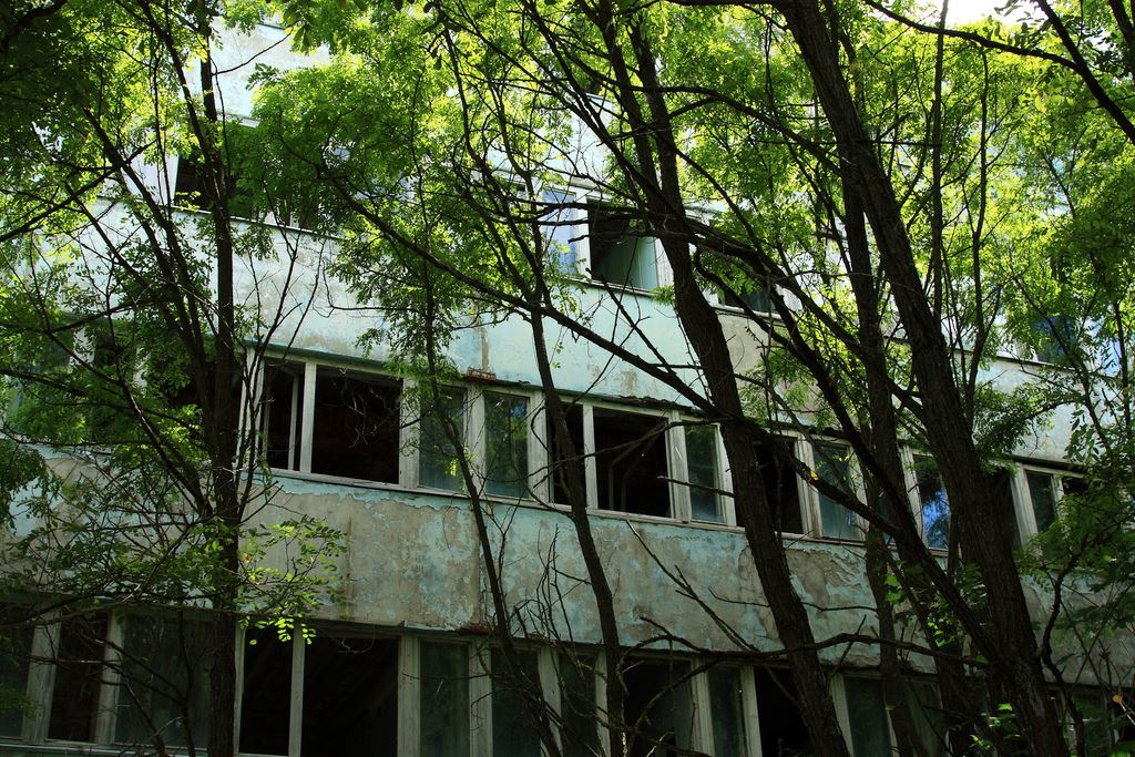 Abandoned buildings in Pripyat, Chernobyl