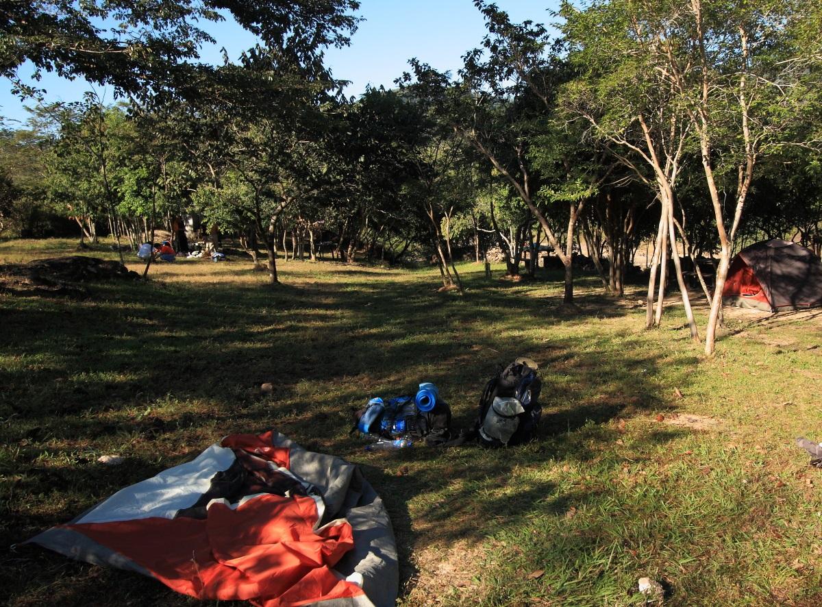The campsite at Rio Sapo