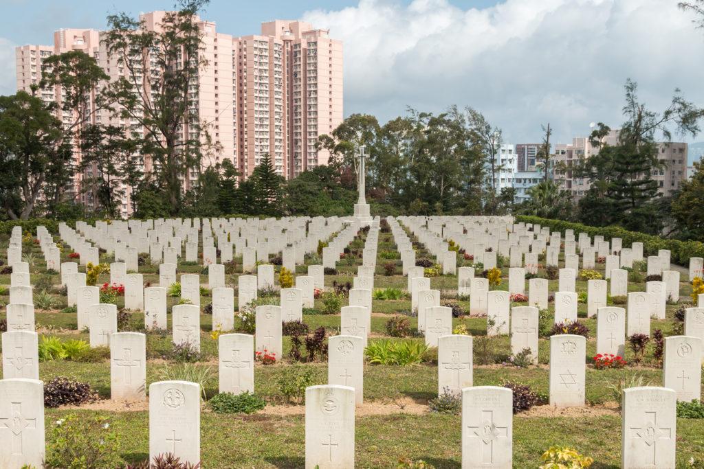Sai Wan War Cemetery graves