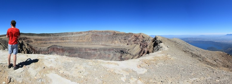 Santa Ana volcano summit panorama