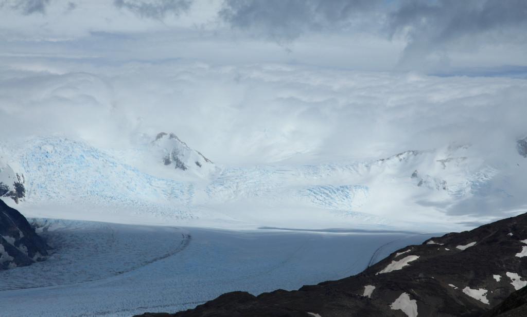 Clouds meet glacier Grey