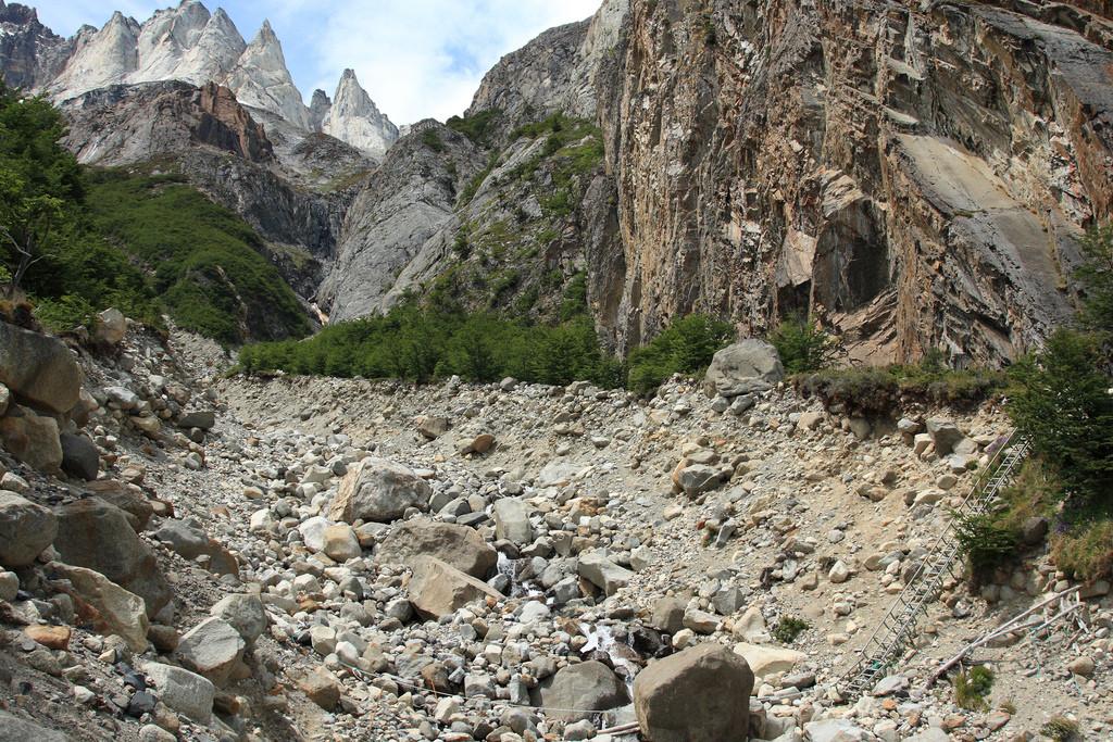 Path passing over rough terrain