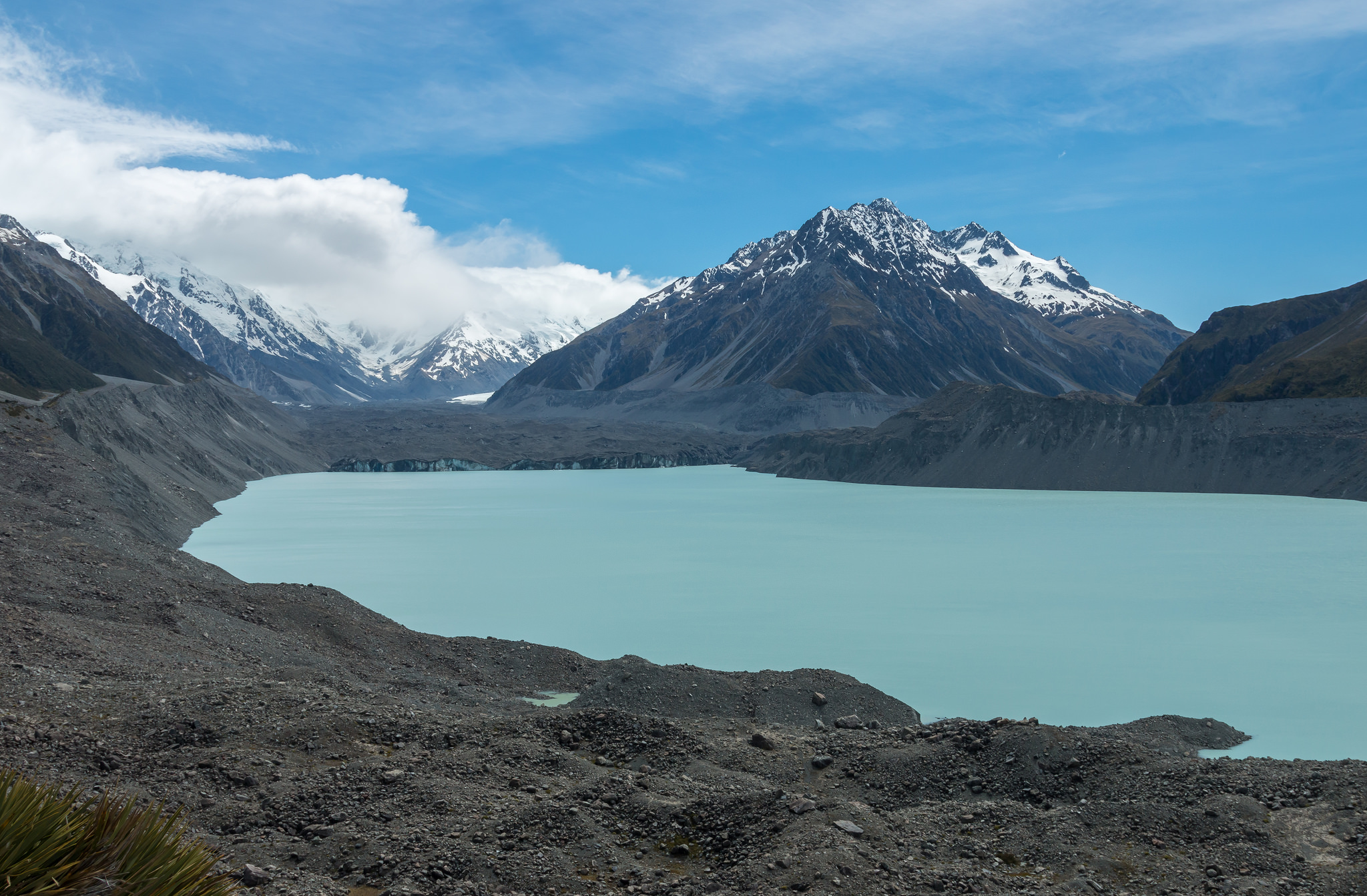 Tasman glacier and lake hike, Mount Cook National Park