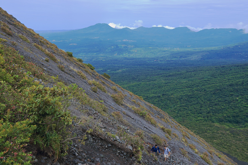 The steep slopes of Izalco volcano