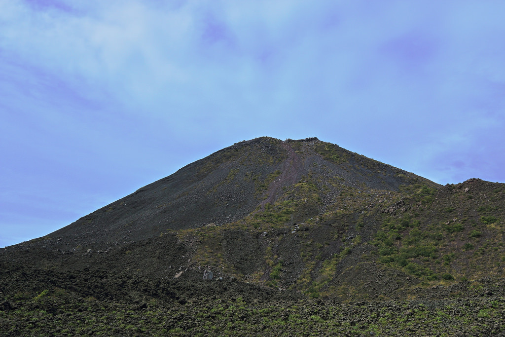 View from the bottom of Cerro Verde, looking up to Izalco
